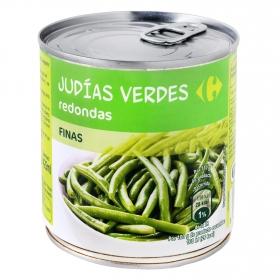 Judías verdes finas al natural extra Carrefour 220 g.