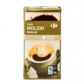 Café molido natural Carrefour 250 g.