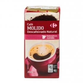 Café molido natural descafeinado Carrefour 250 g.