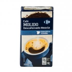 Café molido mezcla descafeinado Carrefour 250 g.