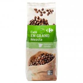 Café grano mezcla Carrefour 1 kg.