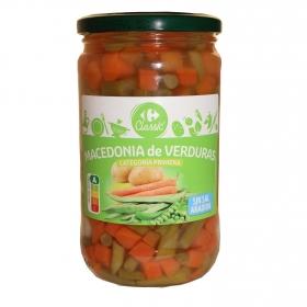 Macedonia de verduras sin sal añadida Carrefour 320 g.