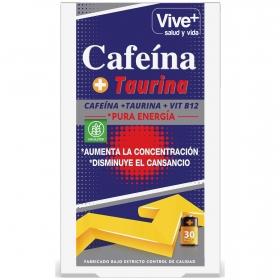 Cafeína + taurina cápsulas Vive Plus 30 ud.