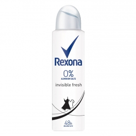 Desodorante en spray invisible fresh Rexona 150 ml.