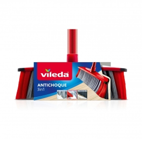 Set de Escoba con palo Multiusos 3in1 antichoque Vileda  - Rojo