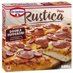 Pizza rústica de pepperoni, queso y mozzarella Dr. Oetker 565 g.