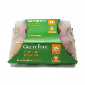 Huevos L Carrefour 6 ud.