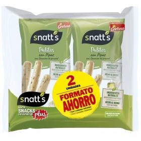 Palitos con pipas Grefusa Snatt's pack de 2 unidades de 62 g.