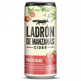 Cider Ladrón de manzanas sabor frutos rojos lata 33 cl.