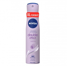 Desodorante en spray Double Effect Nivea 250 ml.