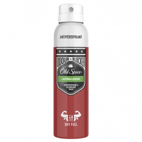 Desodorante spray para hombre Lasting Legend Old Spice 150 ml.