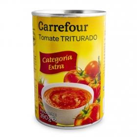 Tomate triturado Carrefour lata de 390 g.