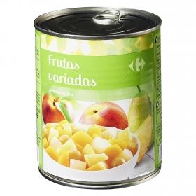Macedonia de frutas en almíbar ligero Carrefour 480 g.