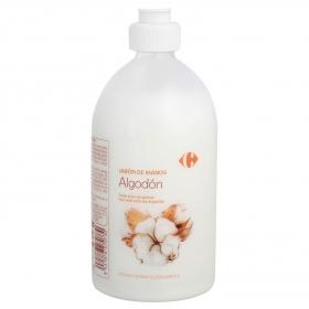 Jabón de manos Algodón Carrefour 500 ml.