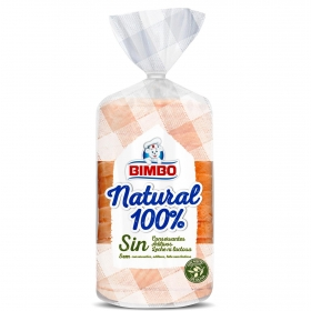Pan sándwich natural 100% Bimbo 460 g.