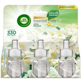 Ambientador eléctrico Essential Oils recambio Air Wick 3 ud.
