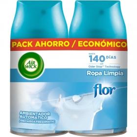 Ambientador automático Flor recambio Freshmatic Air Wick 2 ud.