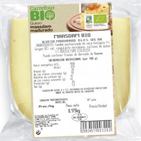 Queso de vaca maasdam madurado ecológico Carrefour Bio cuña 250 g aprox