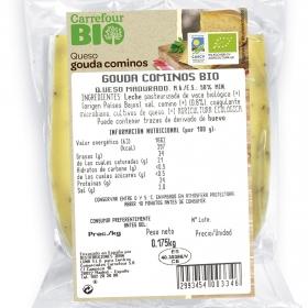 Queso gouda cominos ecológico Carrefour Bio 250 g aprox