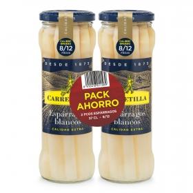 Espárragos blancos extra 8/12 Carretilla pack 2 unidades de 135 g.