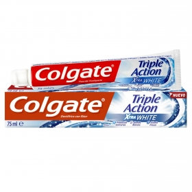 Dentífrico xtra white triple acción Colgate 75 ml.