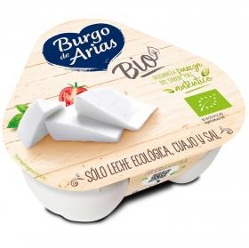 Queso fresco ecológico Burgo de Arias pack de 3 unidades de 70 g.