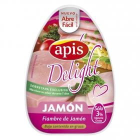 Fiambre de jamón bajo contenido de grasa Apis 220 g.