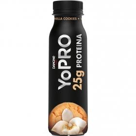 Yogur líquido desnatado sabor cookies y vainilla alto en proteínas Danone YoPRO 300 g.