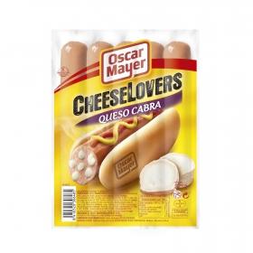 Salchichas con queso de cabra Cheeselovers Oscar Mayer sin gluten 275 g.