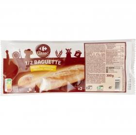 Baguette precocida Carrefour pack de 2 unidades de 150 g.