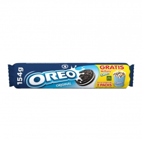 Galletas de chocolate rellenas de crema Oreo 154 g.
