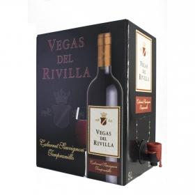 Vino de mesa tinto Vegas del Rivilla grifo 5 l.