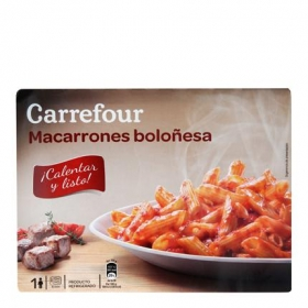 Carrefour Macarrones Boloñesa 325 g.