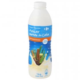 Yogur semidesnatado líquido con azúcar moreno de caña Carrefour 1 kg.