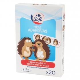 Tiras adhesivas infantiles Carrefour Kids 20 ud.