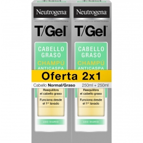 Champú t/gel cabello normal/graso Neutrogena pack de 2 unidades de 250 ml.