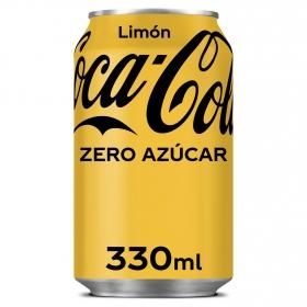 Refresco de cola Coca Cola con limón lata 33 cl.