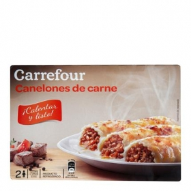 Carrefour Canelones Carne 400 g.