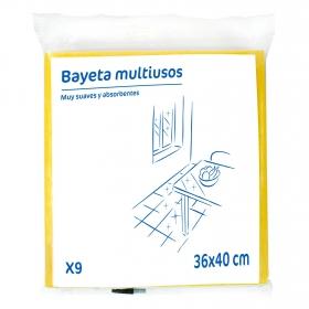 9 Bayetas Multiusos    - Colores surtidos