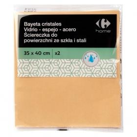 2 Bayetas de cristales  Carrefour   - Beige
