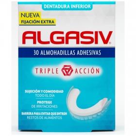 Almohadillas adhesivas para dentadura inferior Algasiv 30 ud.