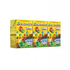Batido de lacasitos Central Lechera Asturiana pack de 3 briks de 200 ml.