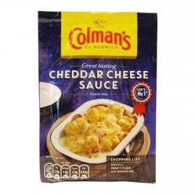 Salsa de queso cheddar Colmans sobre 40 g.