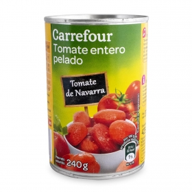 Tomate natural pelado Carrefour 240 g.