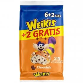 Bollo con pepitas de chocolate Weikis La Bella Easo 6 ud.