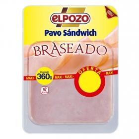 Pavo sandwich braseado El Pozo sin gluten 360 g.