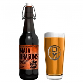 Cerveza artesana Ordio Minero Mata Dragons Barley Wine botella 75 cl.