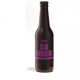 Cerveza artesana Ordio Minero Clau Revolution Irish Red Ale botella 33 cl.