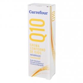 Contorno de ojos Q10 Antiarrugas con Ácido Hialurónico Carrefour 15 ml.