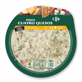 Pizza 4 quesos Carrefour 400 g.